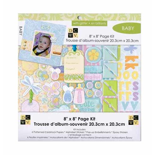 Die Cuts with a View - 8 x 8 Page Kit - Baby