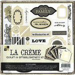 Die Cuts with a View - Le Creme Collection - Paper Album Embellishment Kit, CLEARANCE