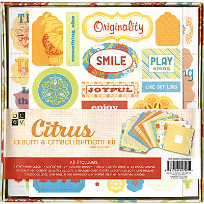 Die Cuts with a View - Citrus Collection - Paper Album Embellishment Kit, CLEARANCE