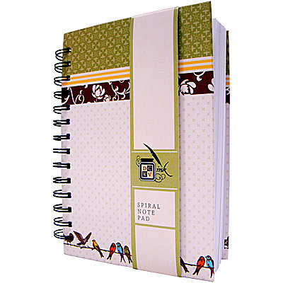 Die Cuts with a View - Mi Casa Collection - Spiral Notebook