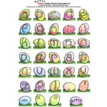 E-Cuts Alphabets (Download and Print)  - Easter Lower Case