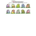 E-Cuts Numbers (Download and Print)  - Easter
