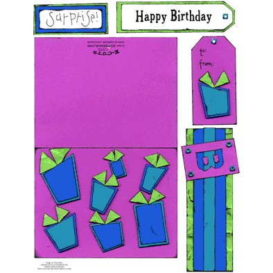 E-Cuts Cards (Download and Print) Birthday Surprise