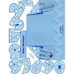 E-Cuts Cards (Download and Print) Blue Birthday-trifold