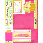 E-Cuts Cards (Download and Print) Birthday Trifold-Pink