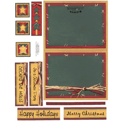 E-Cuts Cards (Download and Print) Deck The Halls
