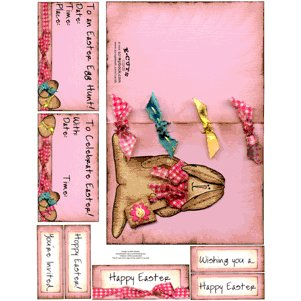 E-Cuts Cards (Download and Print) Easter Bunny