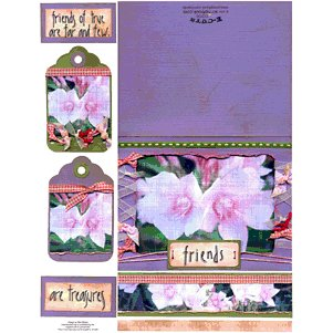 E-Cuts Cards (Download and Print) Friends Are Treasures