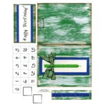 E-Cuts Cards (Download and Print) Birthday Candle-Green