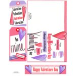 E-Cuts Cards (Download and Print) Happy Valentines Day