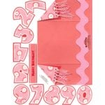 E-Cuts Cards (Download and Print) Pink Birthday-trifold