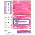 E-Cuts Cards (Download and Print) Birthday Candle-Pink