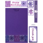 E-Cuts Cards (Download and Print) Purple Expressions