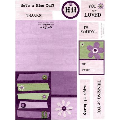 E-Cuts Cards (Download and Print) Purple Retro Greeting