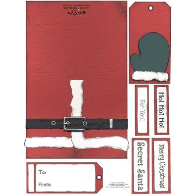 E-Cuts Cards (Download and Print) Secret Santa