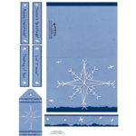 E-Cuts Cards (Download and Print) Stitched Snowflake