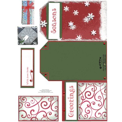 E-Cuts Cards (Download and Print) Trifold Seasons Greetings