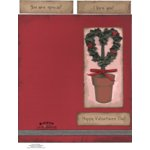E-Cuts Cards (Download and Print) Valentine Topiary Tree