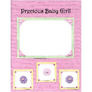 E-Cut Complete (Download and Print) Precious Baby Girl