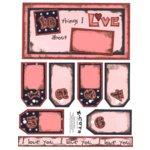 E-Cuts (Download and Print) 10 Things I Love - Pink 1
