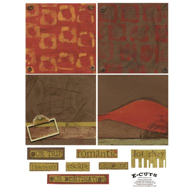 E-Cuts (Download and Print) 4x4 Album Kit: Traveler 2