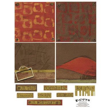 E-Cuts (Download and Print) 4x4 Album Kit: Traveler 2