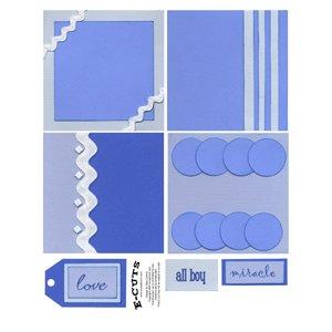 E-Cuts (Download and Print) 4x4 Album Kit: Baby Boy 2