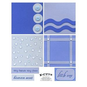 E-Cuts (Download and Print) 4x4 Album Kit: Baby Boy 3