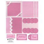 E-Cuts (Download and Print) 4x4 Album Kit: Baby Girl 2