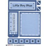 E-Cuts (Download and Print) Baby Boy Blue