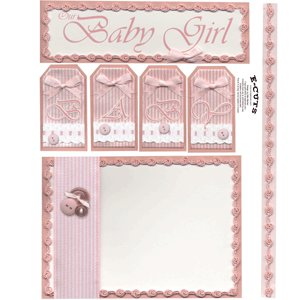 E-Cuts (Download and Print) Beautiful Baby Girl 2