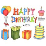 E-Cuts (Download and Print) Happy Birthday