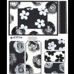 E-Cuts (Download and Print) Black & White: Flowers & Swirls