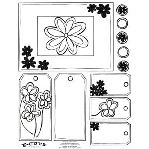 E-Cuts (Download and Print) Doodling Flowers