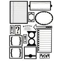 E-Cuts (Download and Print) Day Planner / Project Organizer 2 Inserts & Embellishments