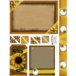 E-Cuts (Download and Print) Golden Sunflower
