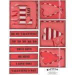 E-Cuts (Download and Print) Hearts and Stripes 1