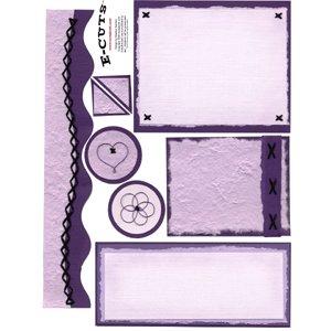 E-Cuts (Download and Print) Monochromatic Purple