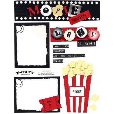 E-Cuts (Download and Print) Movie Night - click to enlarge