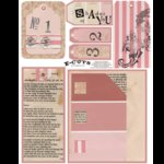 E-Cuts (Download and Print) Vintage Shades of You - Pink