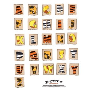 E-Cuts Alphabets  (Download and Print) Zoo Clues Alphabet