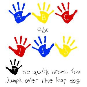 Fonts (Download) SBC Handprints