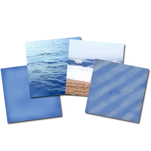E-Kit Papers (Digital Scrapbooking) - Seashore