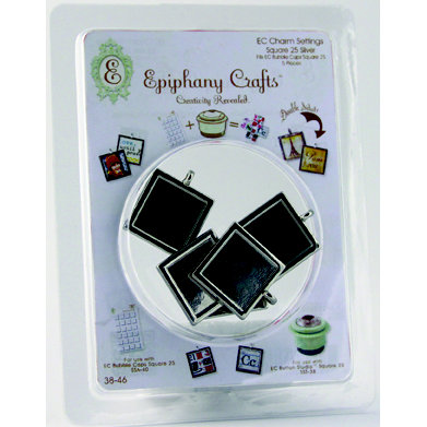 Epiphany Crafts - Jewelry - Metal Charms - Square 25