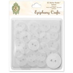 Epiphany Crafts - Button Studio - Self Adhesive Buttons - Round 20