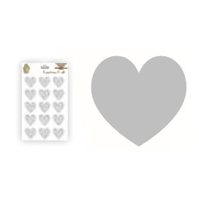 Epiphany Crafts - Shape Studio - Bubble Caps - Clear - Heart 25