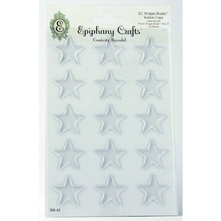 Epiphany Crafts - Shape Studio - Bubble Caps - Clear - Star 25