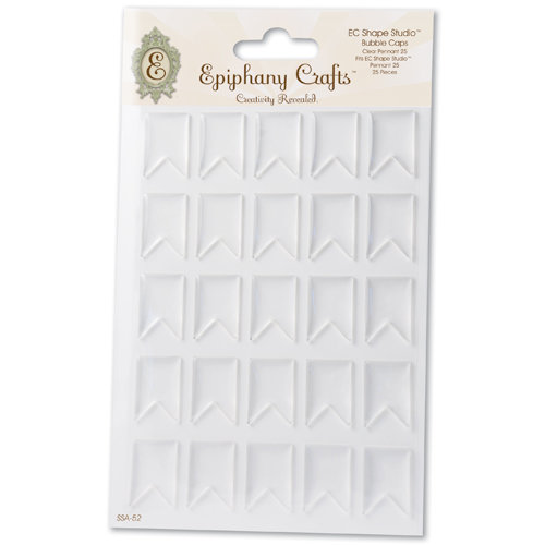 Epiphany Crafts - Shape Studio - Bubble Caps - Clear - Pennant 25