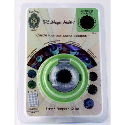 Epiphany Crafts - Shape Studio - Custom Shape Making Tool - Scalloped Circle 25