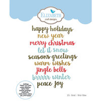 Elizabeth Craft Designs - Christmas - Dies - Words 5 - Winter Wishes